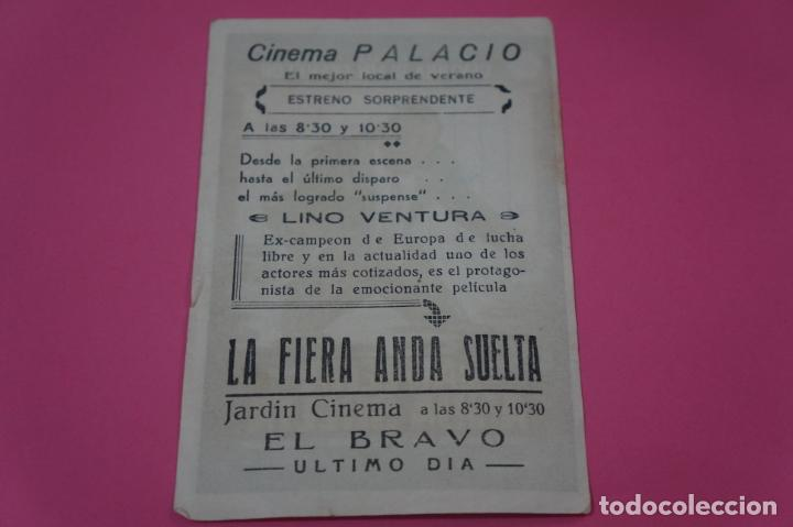Cine: FOLLETO DE MANO PROGRAMA DE CINE LA FIERA ANDA SUELTA CON PUBLICIDAD LOTE 26 - Foto 2 - 187396790