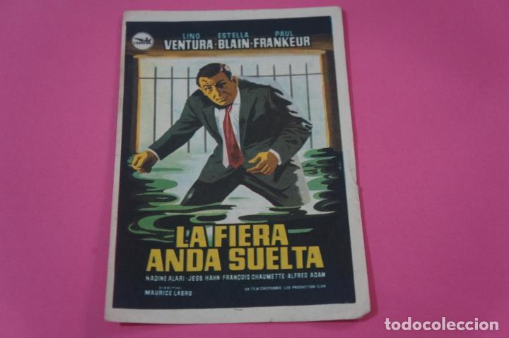 FOLLETO DE MANO PROGRAMA DE CINE LA FIERA ANDA SUELTA CON PUBLICIDAD LOTE 26 (Cine - Folletos de Mano - Ciencia Ficción)