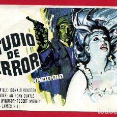 Cine: ESTUDIO DE TERROR CON CINE COLON DE ALCOY ALICANTE , ORIGINAL PMD 1148. Lote 187440230