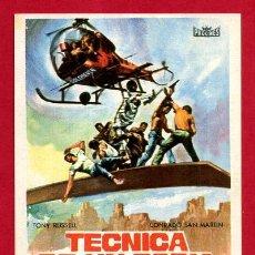 Cine: TECNICA DE UN ESPIA SENCILLO CON CINE VICTORIA 1967 SAN FELIU ORIGINAL PMD 1158. Lote 187442923