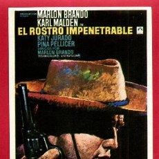 Cine: EL ROSTRO IMPENETRABLE SENCILLO SIN CINE ORIGINAL PMD 1185. Lote 206320010