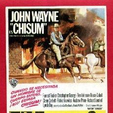Cine: JOHN WAYNE CHISUM SENCILLO SIN CINE ORIGINAL PMD 1189. Lote 262198145