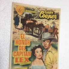 Cine: FOLLETO DE MANO ORIGINAL EL HONOR DEL CAPITÁN LEX R80. Lote 187480157