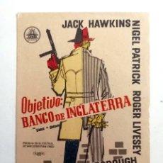 Cine: PROGRAMA DE MANO ORIGINAL - OBJETIVO: BANCO DE INGLATERRA -. Lote 187502920