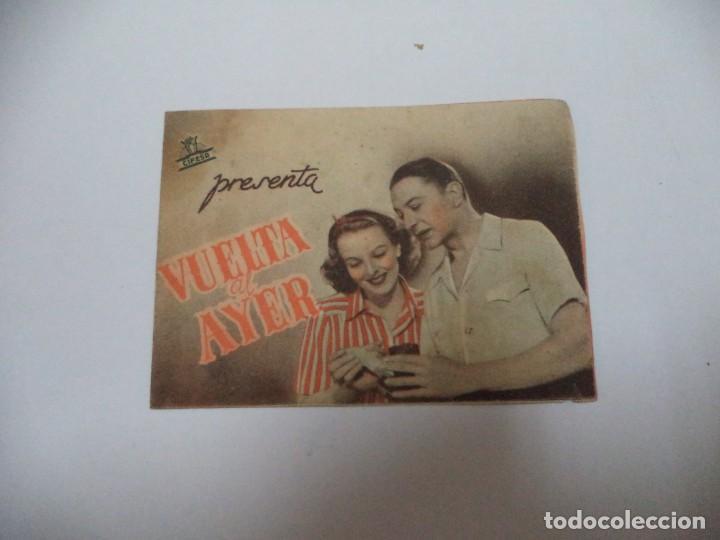 PROGRAMA CINE.VUELTA AL AYER (Cine - Folletos de Mano - Comedia)