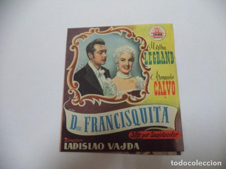 PROGRAMA CINE. D. FRANCISQUITA (Cine - Folletos de Mano - Comedia)