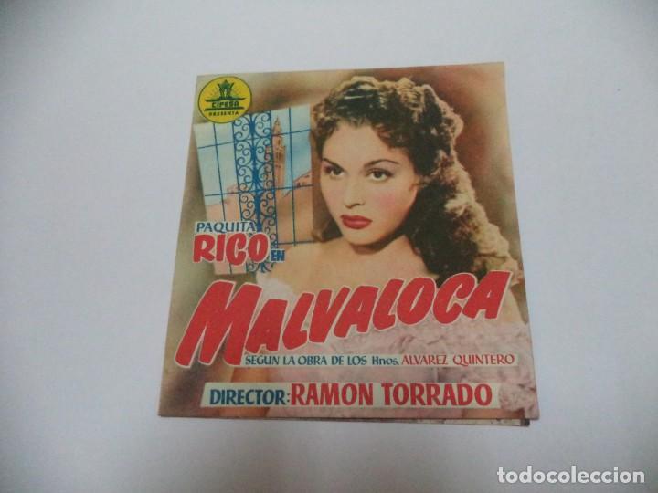 PROGRAMA CINE.MALVALOCA (Cine - Folletos de Mano - Comedia)