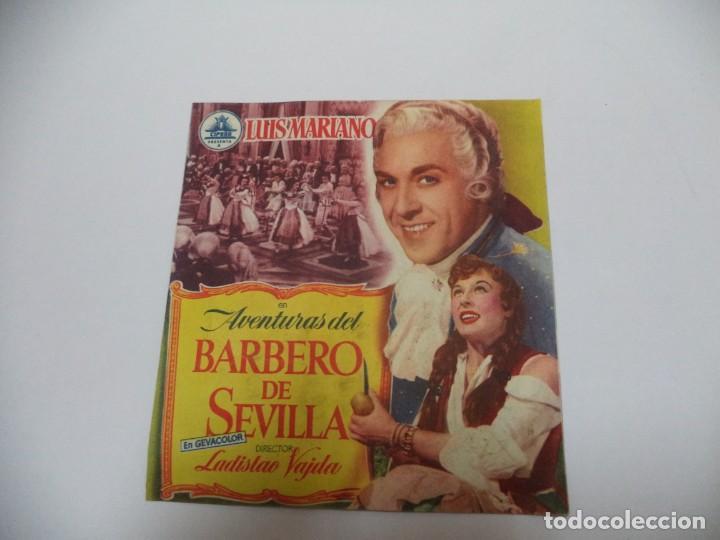 PROGRAMA CINE.EL BARBERO DE SEVILLA (Cine - Folletos de Mano - Comedia)