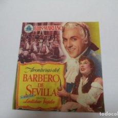 Cine: PROGRAMA CINE.EL BARBERO DE SEVILLA. Lote 187527803