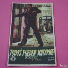 Cine: FOLLETO DE MANO PROGRAMA DE CINE TODOS PUEDEN MATARME SIN PUBLICIDAD LOTE 27 MIRAR FOTO. Lote 187528031