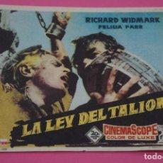 Cine: FOLLETO DE MANO PROGRAMA DE CINE LA LEY DEL TALION SIN PUBLICIDAD LOTE 27 MIRAR FOTO. Lote 187528377