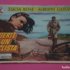 Cine: FOLLETO DE MANO PROGRAMA DE CINE MUERTE DE UN CICLISTA SIN PUBLICIDAD LOTE 27 MIRAR FOTO. Lote 187529820