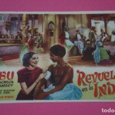 Cine: FOLLETO DE MANO PROGRAMA DE CINE REVUELTA EN LA INDIA SIN PUBLICIDAD LOTE 27 MIRAR FOTO. Lote 187530385