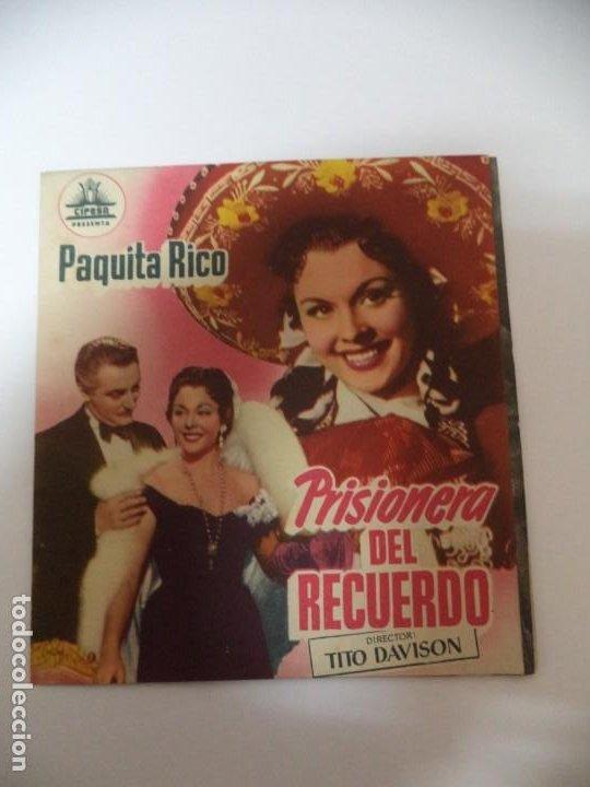PROGRAMA CINE PRISIONERO DEL RECUERDO (Cine - Folletos de Mano - Comedia)