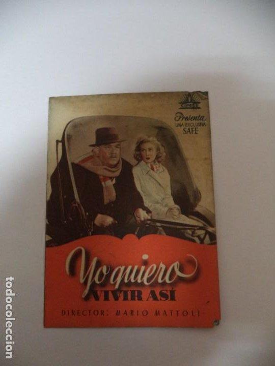PROGRAMA CINE YO QUIERO VIVIR ASI (Cine - Folletos de Mano - Comedia)