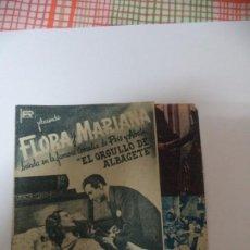 Cine: PROGRAMA CINE. FLORA Y MARIANA. Lote 187532728
