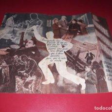 Cine: FOLLETO DOBLE EL HOMBRE INVISIBLE VUELVE. PUBLICIDAD AL DORSO. AÑO 1940. Lote 187614213