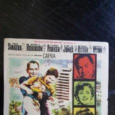 Cine: FOLLETO DE CINE, MILLONARIO DE ILUSIONES, AÑO 1960, ORIGINAL. C/P CINE AVENIDA.. Lote 187620657