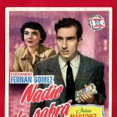 Cine: NADIE LO SABRA SENCILLO SIN CINE , PMD 1315 G. Lote 295775128