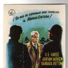 Cine: FOLLETO DE MANO EL ALMIRANTE CANARIS. PUBLICIDAD CINE AVIACION, LA ALBERICIA. SANTANDER. 1958. Lote 188469106