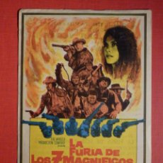 Cine: FOLLETO MANO, PROGRAMA - LA FURIA DE LOS 7 MAGNÍFICOS - CINE LAS VEGAS - 25 DICIEMBRE 1969 -FIGUERAS. Lote 188565831