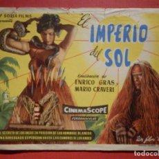 Cine: FOLLETO MANO, PROGRAMA - EL IMPERIO DEL SOL - SIN PUBLICIDAD -. Lote 188567587