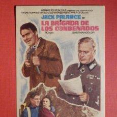 Cine: FOLLETO MANO, PROGRAMA - LA BRIGADA DE LOS CONDENADOS - CINEMA VICTORIA - 27 NOVIEMBRE 1971. Lote 188568041