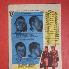Cine: FOLLETO MANO, PROGRAMA - LOS TRAMPOSOS - LUX Y ECHEGARAY - 1961. Lote 188568632