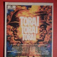 Cine: FOLLETO MANO, PROGRAMA - TORA! TORA! TORA! - CINE UNIÓN -. Lote 188569480