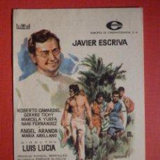 Cine: FOLLETO MANO, PROGRAMA - MOLOKAI - CINEMA CÍRCULO DE CAPELLADES - FESTA MAJOR DE 1960. Lote 188569732
