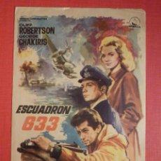 Cine: FOLLETO MANO, PROGRAMA - ESCUADRÓN 633 - TEATRO PRINCIPAL - ALICANTE - 25 DE JUNIO DE 1965. Lote 188570337