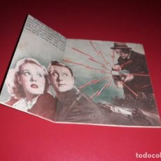 Cine: FOLLETO DOBLE ALARMA EN LA CIUDAD CON BORIS KARLOFF. PUBLICIDAD. AÑO 1937.. Lote 188657275