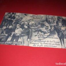 Cine: FOLLETO DOBLE LEGION DE TIRADORES. PUBLICIDAD. AÑO 1940. Lote 188657877