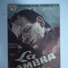 Cine: LA SOMBRA DE FRANKENSTEIN 2 DE ENERO DE 1944 DIR. ROWLAND V. LEE. INT. BORIS KARLOFF BELA LUGOSI DOB. Lote 188746486