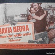 Cine: BAHÍA NEGRA, JAMES STEWART, CIN EREX DE CASTELLÓN, 1954. Lote 188813208