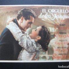 Cine: EL ORGULLO DE LOS YANQUIS, GARY COOPER. Lote 188816868