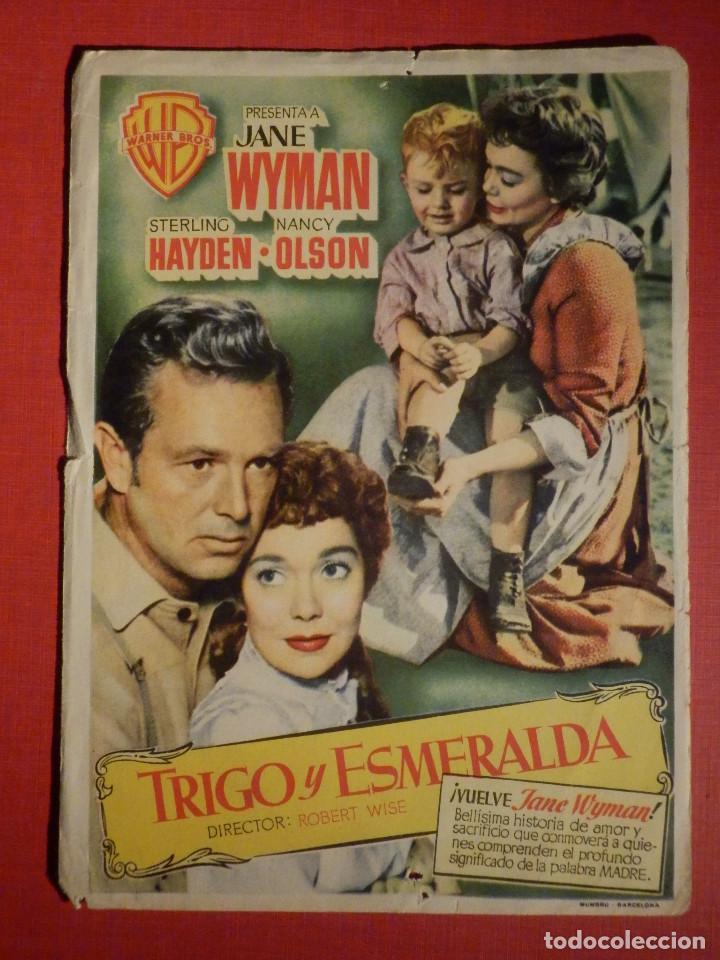 FOLLETO DE MANO - PELICULA - FILM - TRIGO Y ESMERALDA - 1953 (Cine - Folletos de Mano - Westerns)