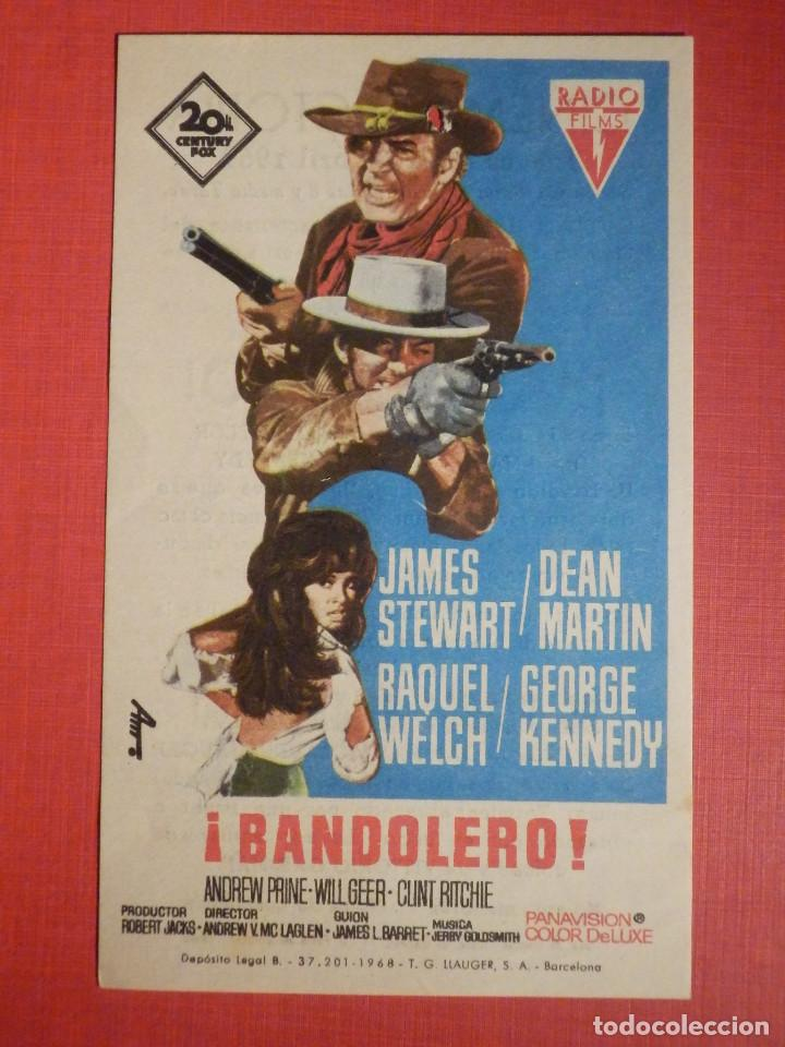 FOLLETO DE MANO - PELICULA - FILM - ¡BANDOLERO! - CINEMA VICTORIA 24 DE ABRIL DE 1969 (Cine - Folletos de Mano - Westerns)