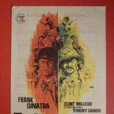 Cine: FOLLETO DE MANO PELÍCULA - FILM - TODOS ERAN VALIENTES - CINEMA VICTORIA - 19 DE NOVIEMBRE DE 1966. Lote 189193361