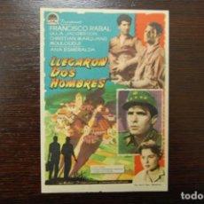Cine: LLEGARON DOS HOMBRES. Lote 189246623