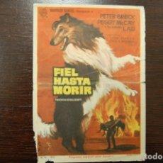 Cine: FIEL HASTA MORIR -CINEMA CAPITOL ALICANTE AGOSTO 1965-. Lote 189321932
