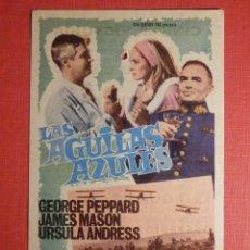 Cine: FOLLETO DE MANO - FILM - PELÍCULA - LAS AGUILAS AZULES - 26 DE ABRIL DE 1969 - CINEMA VICTORIA. Lote 189329167