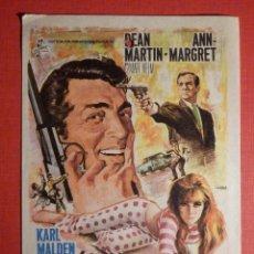 Cine: FOLLETO DE MANO - FILM - PELÍCULA - MATT HELM AGENTE MUY ESPECIAL, 1 DE ENERO 1969 - CINEMA VICTORIA. Lote 189329443