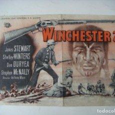 Cine: FOLLETO DE MANO DE WINCHESTER 73 CON JAMES STEWART. Lote 189511297