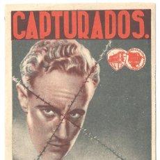 Cine: CAPTURADOS PROGRAMA DOBLE WARNER LESLIE HOWARD DOUGLAS FAIRBANKS JR.. Lote 24563872