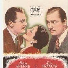 Flyers Publicitaires de films Anciens: PROGRAMA CINE. EL HOMBRE QUE SE PERDIÓ A SÍ MISMO. 19-1032. Lote 189634916