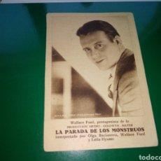 Cine: PROGRAMA DE CINE CARTÓN. LA PARADA DE LOS MONSTRUOS. Lote 189671157