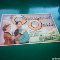 Cine: PROGRAMA DE CINE SIMPLE. LA CARAVANA DEL OESTE. CINEMA PROYECCIONES DE CIUDAD REAL. 1943. Lote 189682756