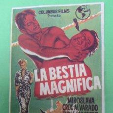 Cine: LA BESTIA MAGNIFICA , MIROSLAVA , LUCHA LIBRE , . Lote 189821066