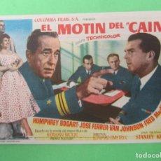 Cine: EL MOTIN DEL CAINE - HUMPHREY BOGART - CINE ROCH - ALCAÑIZ. Lote 189821705